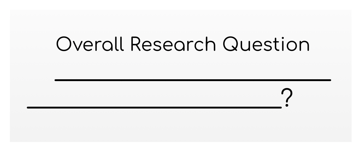 Abstract representation of overall research question.