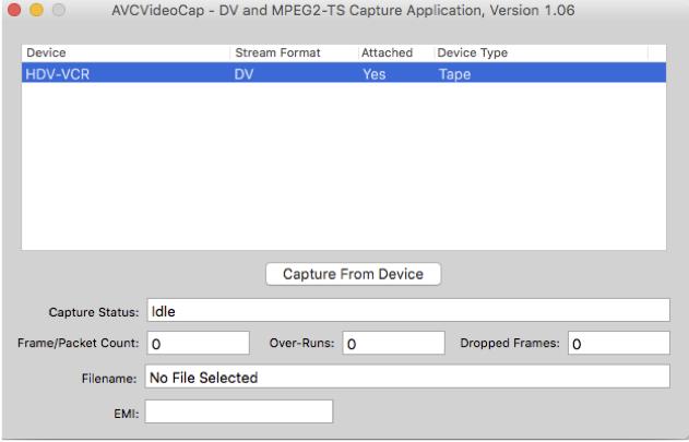 avcvideocap application