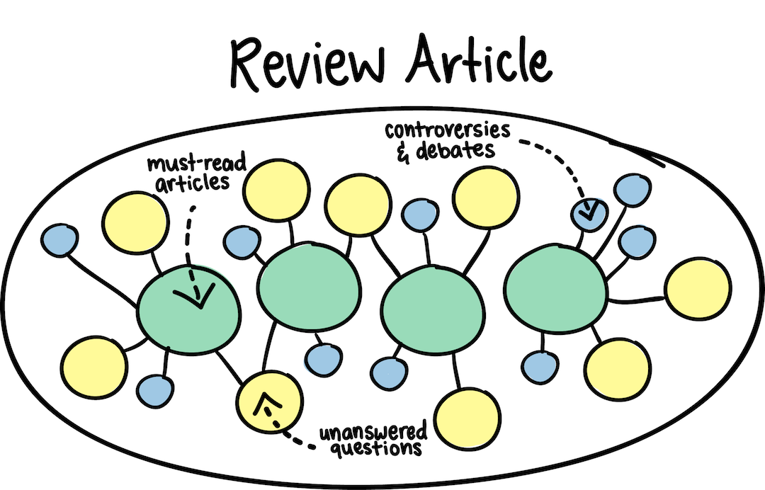 A review article helps you find must-read articles, identify controversies and debates, and learn about unananswered questions.